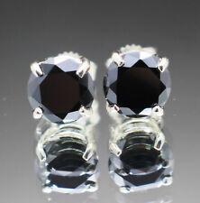 Black Diamond Earrings Sterling Silver 925 4.80 ct Certified AAA Quality Gift