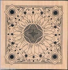 Papermania Floral Diseño Sello De Goma En Madera Bloque De Madera