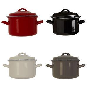 2 Litre Casserole Dish Enamel Stew Soup Stockpot With Handles Non Stick New