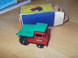 VINTAGE MATCHBOX LESNEY No 2C  MUIR-HILL LAING DUMPER TRUCK NEAR MINT WITH BOX