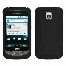 Amzer Silicone Skin Jelly Case for LG Optimus T - Black