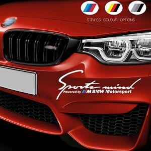 SPORTS MIND Powered By BMW Motorsport Door Bumper Car Vinyl STICKER Decal