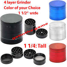 Tobacco Grinder MINI Crusher Hand Muller Smoke Herbal Herb 4 Layer Metal NEW