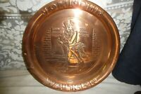 Copper plate tray 34cm solid JOHNNIE WALKER whisky 600gm