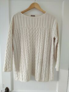 J.Jill Sweater Off White Super Soft L XL Cable Knit