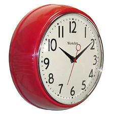 "9.5"" Red Deep Wall Clock"