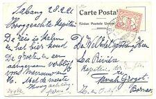 NED INDIE S.M.N. 1921-3-1  AK  PER = S.S.ORANJE = PM-SABANG-  F/VF