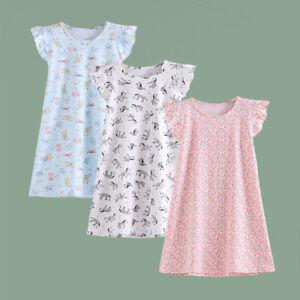 Agoky Girls Princess Cotton Square Neck Long Sleeves Nightdress Sleepwear Nightgown