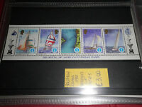 "FRANCOBOLLI SOLOMON ISL. 1987 ""BARCHE A VELA MAPPE"" MNH** SET STRIP OF 5 (CAT.9)"
