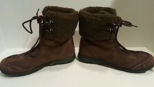 Wenger womens brown suede wool sherpa winter boots size 7.5
