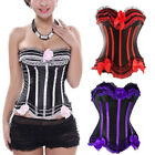 1×Lace Up Boned Lot Corset Top Waist Training Shapers Bustiers Basque Plus Size