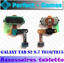 Samsung Galaxy Tab S2 9.7 SM-T810 T815 bouton touche ID Home button noir black