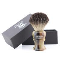 LUXURY Black Badger Barber Brush Beard Shaver Resin Handle Regular Home Use New