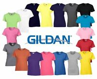 Gildan Ladies Heavy Cotton Plain Missy Fit T-Shirt Tshirts Tee