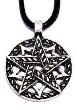 Pentagramme de Pentacle Pendentif Double Étoile Païen Wiccan sur Cordon Collier
