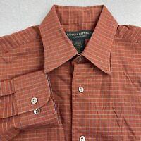 Banana Republic Button Up Shirt Mens S Dark Orange Long Sleeve Stretch Classic