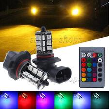 2pcs RGB Wireless 9005 HB3 27-SMD LED Decoration Bulbs 3K 8K 10K For Fog Lights