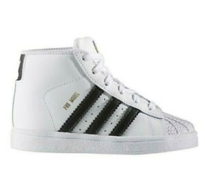 Adidas Original Toddler's Pro Model (TD) Shoes NEW AUTHENTIC White/Black BY4400