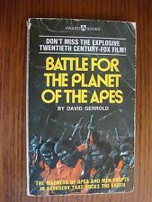Battle for the Planet of the Apes - David Gerrold - Vintage PB 1973 Award Books