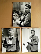 GÜNTER PFITZMANN * 3 PRESSEFOTOS 18x24cm PHOTOS LOT FILM + TV 1960er