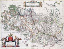 Reproduction carte ancienne - Diocèse de Liège (Luik) 1663
