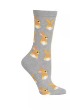 2 Pairs Foozys Women/'s Novelty Socks Bunny Rabbit Bunnies Easter Gift Size 9-11