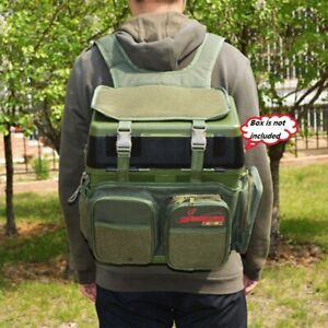 Nylon Fishing Tackle Seat Box Backpack Camping Stool Seat Case Carrier Bag