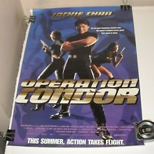 ROLLED OPERATION CONDOR MOVIE POSTER JACKIE CHAN CAROL CHENG ACTION 13.5 x 20
