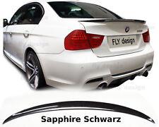 BMW 3er E90 spoiler heckspoiler PERFORMANCE stil SAPHIRSCHWARZ heck flügel flap