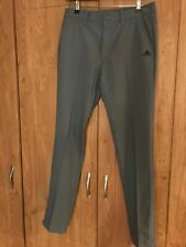 Mens Adidas Grey Golf Trousers W34 L32 great condition