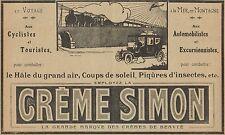 Y7356 Créme SIMON - Pubblicità d'epoca - 1914 Old advertising