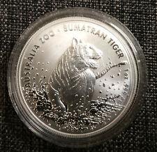 Sumatra Tiger 2020 1 oz Australia silver Sumatran 1 once