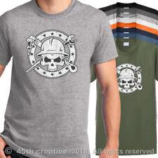 Protector Camiseta - Aparejadores Calavera y Huesos Cruzados Camisa Ingeniería N