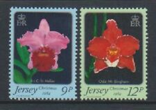 Jersey - 1984, Christmas, Orchids Flowers set - MNH - SG 350/1