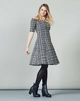 BNWT Simply Be Grid Check Scuba Off The Shoulder Skater Dress Size 16