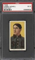 Very Rare 1909-11 T206 Harry Howell Cycle 350 Back St Louis PSA 5 EX None Higher