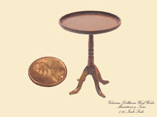 Dollhouse Miniatures 1:24  Scale Walnut Tea Table - Artist Made Furniture