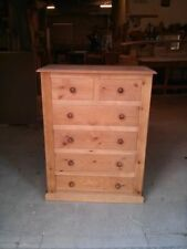 Handmade Pine Victorian Style Chests of Drawers