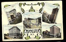Main Street Views in Rochester New York NY Postcard