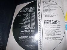 "THE BEATLES FULL WORDS OF 20 HITS SONG BOOK FROM ""FABULOUS""  MAGAZINE 1963 FAB!"