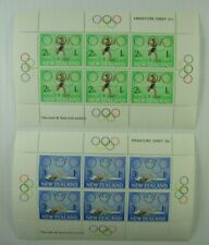 1968  New Zealand  SC #B75a-76a  OLYMPICS   MH Miniature Sheets