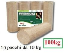Tronchetto di legno pressato puro faggio biomac 5-10 pacchi da 10kg (50-100 kg)