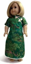 Doll Clothes fits 18 inch American Girl Dolls-Green Asian Dress