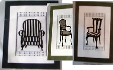 LOT 0F 3 NEW VERVACO  COUNTED CROSS STITCH KITS- BAROK CHAIRS I, II, & ARMCHAIR