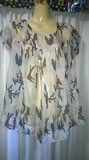 Womans Sunnygirl Top, Sheer, Size 12, 100% Spun Rayon