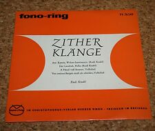 "Single 7"" Rudi Knabl Zither Klänge  fono-ring Top Zustand"