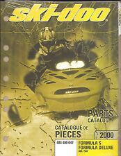 2000 Ski-Doo Formula S / Formula Deluxe Snowmobile Parts Manual