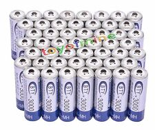 50x AA 3000mAh 2A 1.2 V Ni-MH Rechargeable Battery BTY Cell for MP3 RC Toys