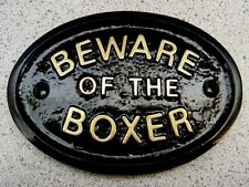 Boxer Warning Signs & Plaques