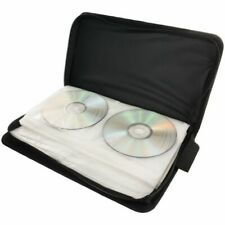Retro 80 Sleeve CD DVD Blu Ray Disc Carry Case Holder Storage Ring Binder Bag US